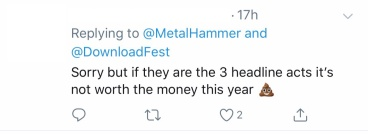 Shit Headliners Tweet